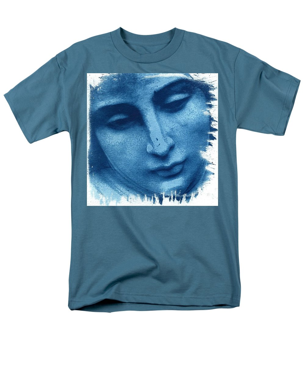 Blue Men's T-Shirt (Regular Fit) featuring the photograph Marys Blues by Jane Linders