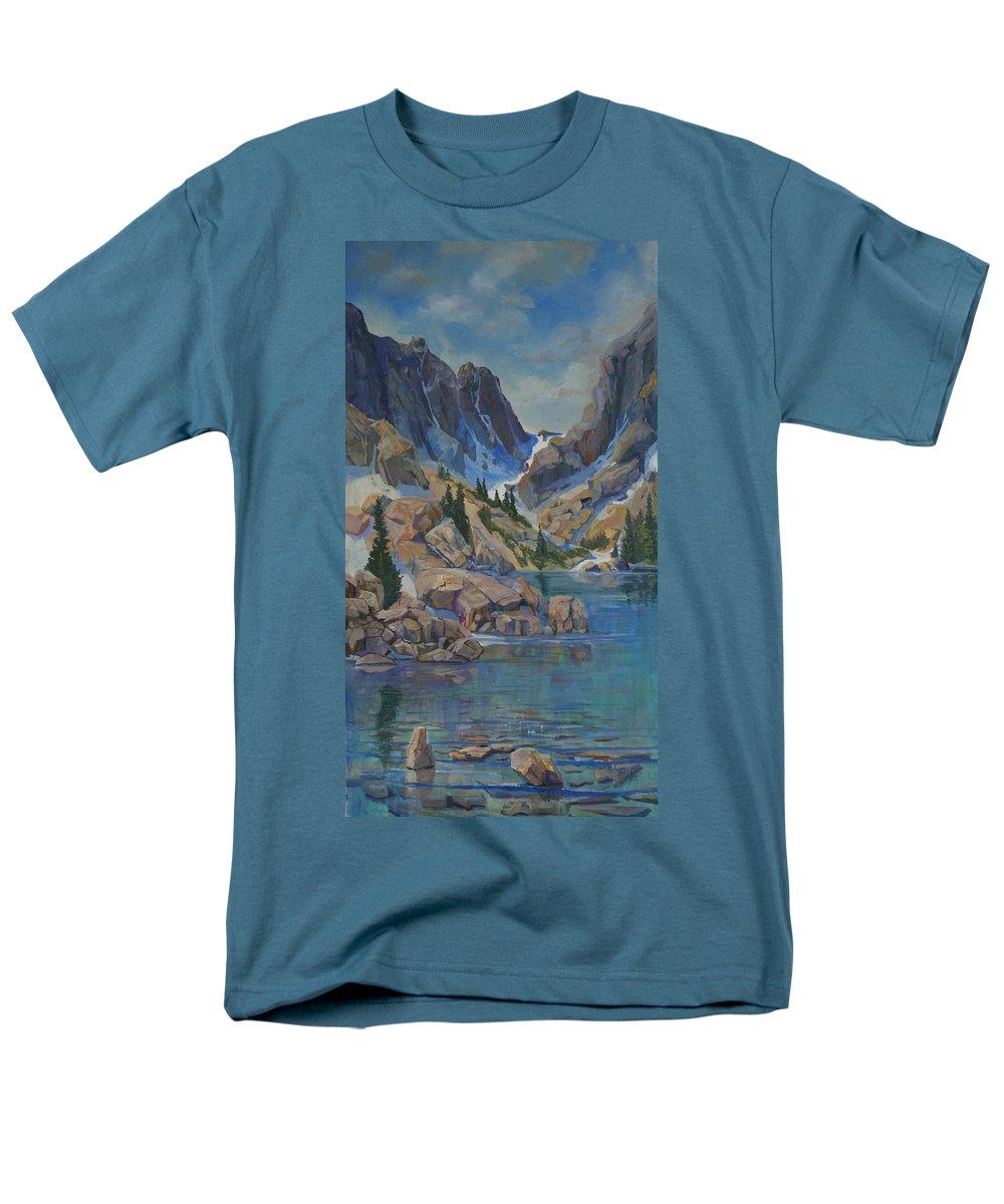 Hayden Spires Men's T-Shirt (Regular Fit) featuring the painting Near Hayden Spires by Heather Coen