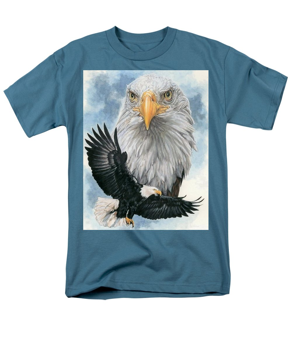 Bald Eagle Men's T-Shirt (Regular Fit) featuring the mixed media Peerless by Barbara Keith