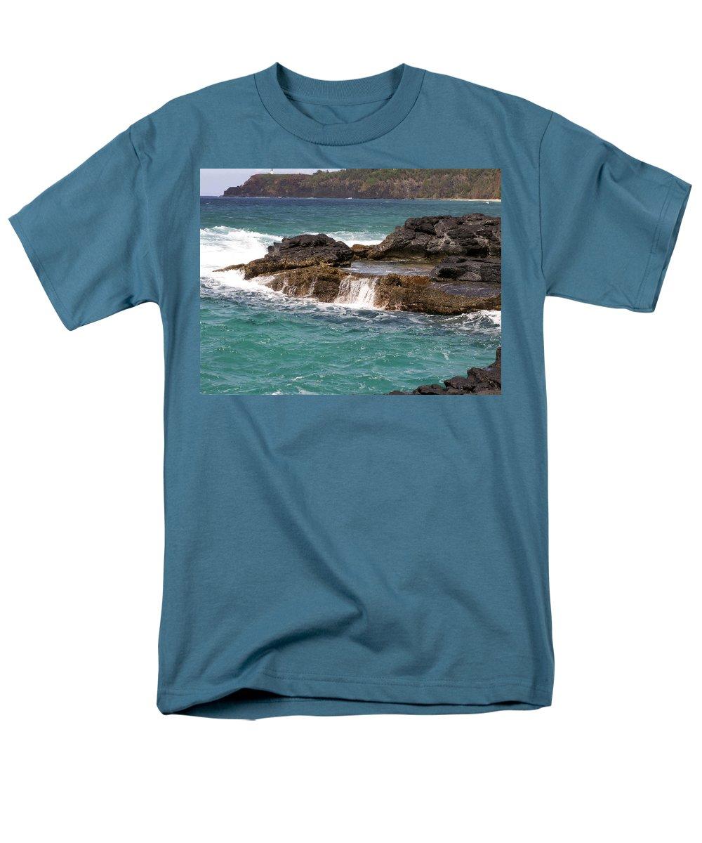 Beach Men's T-Shirt (Regular Fit) featuring the photograph Secret Beach by Amy Fose