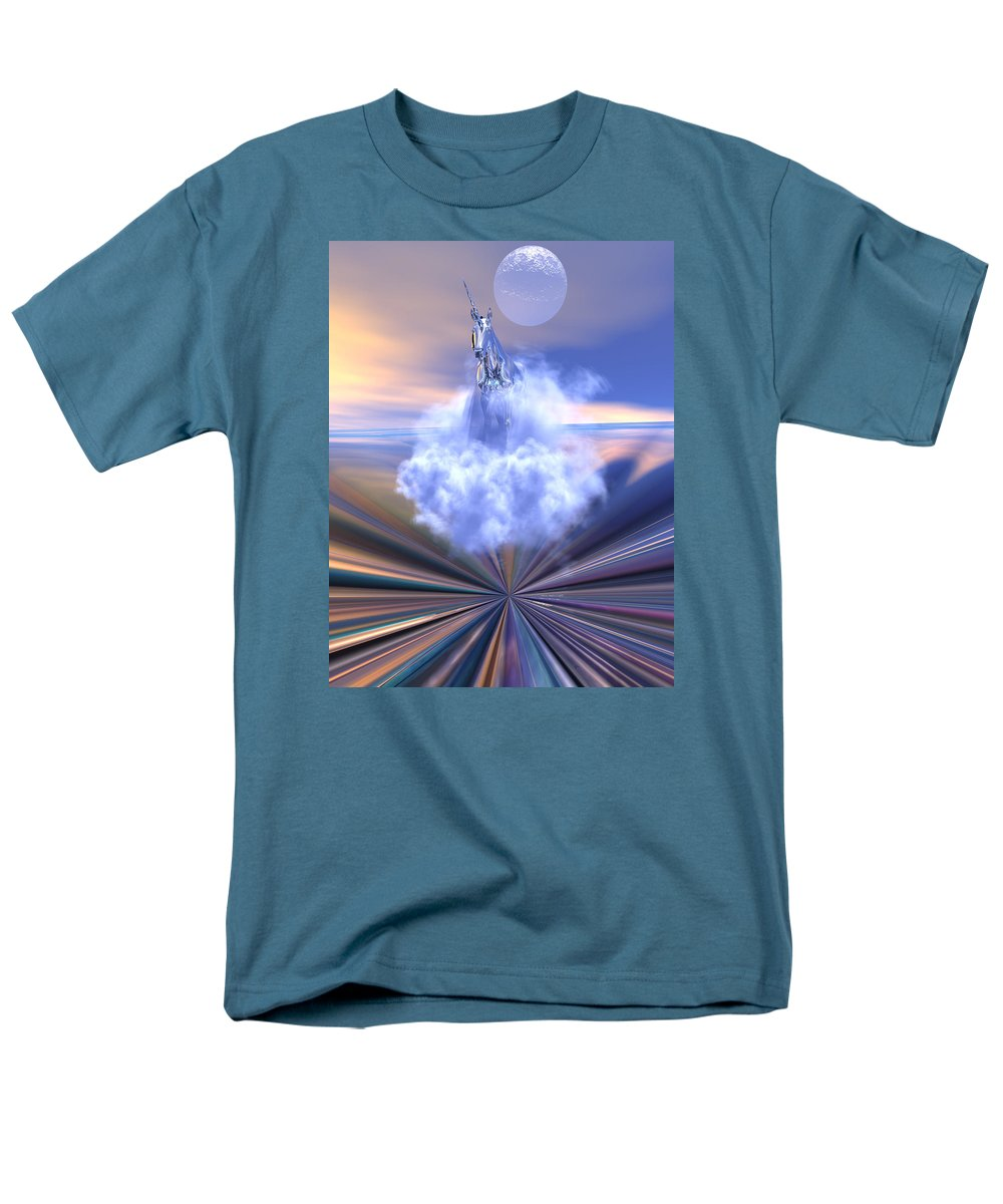 Bryce Men's T-Shirt (Regular Fit) featuring the digital art The last of the unicorns by Claude McCoy