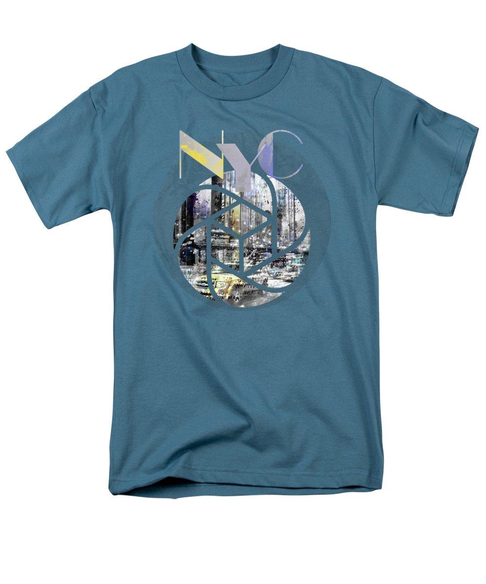 New York City Men's T-Shirt (Regular Fit) featuring the photograph Trendy Design New York City Geometric Mix No 4 by Melanie Viola