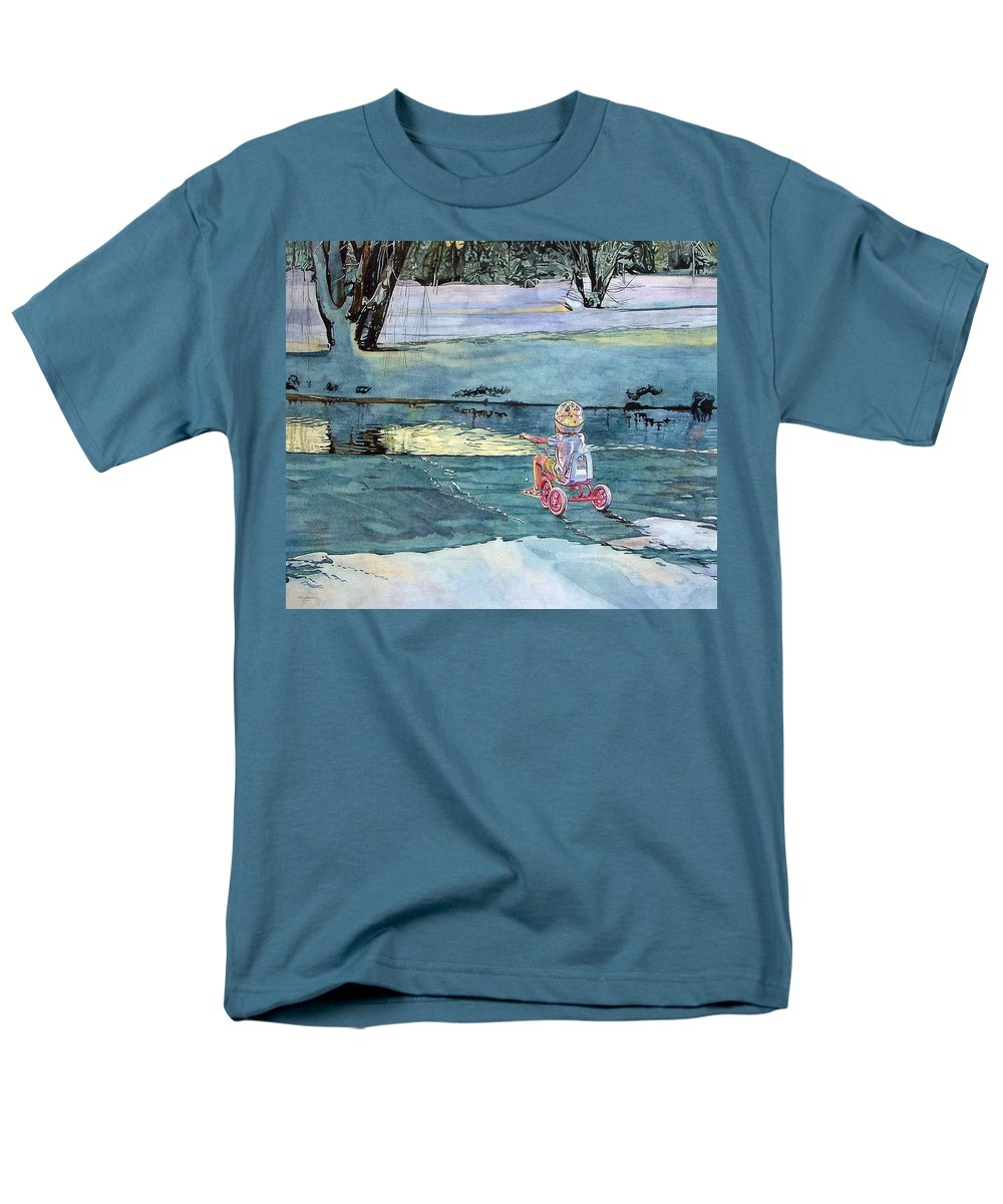 Children Men's T-Shirt (Regular Fit) featuring the painting Twilight by Valerie Patterson