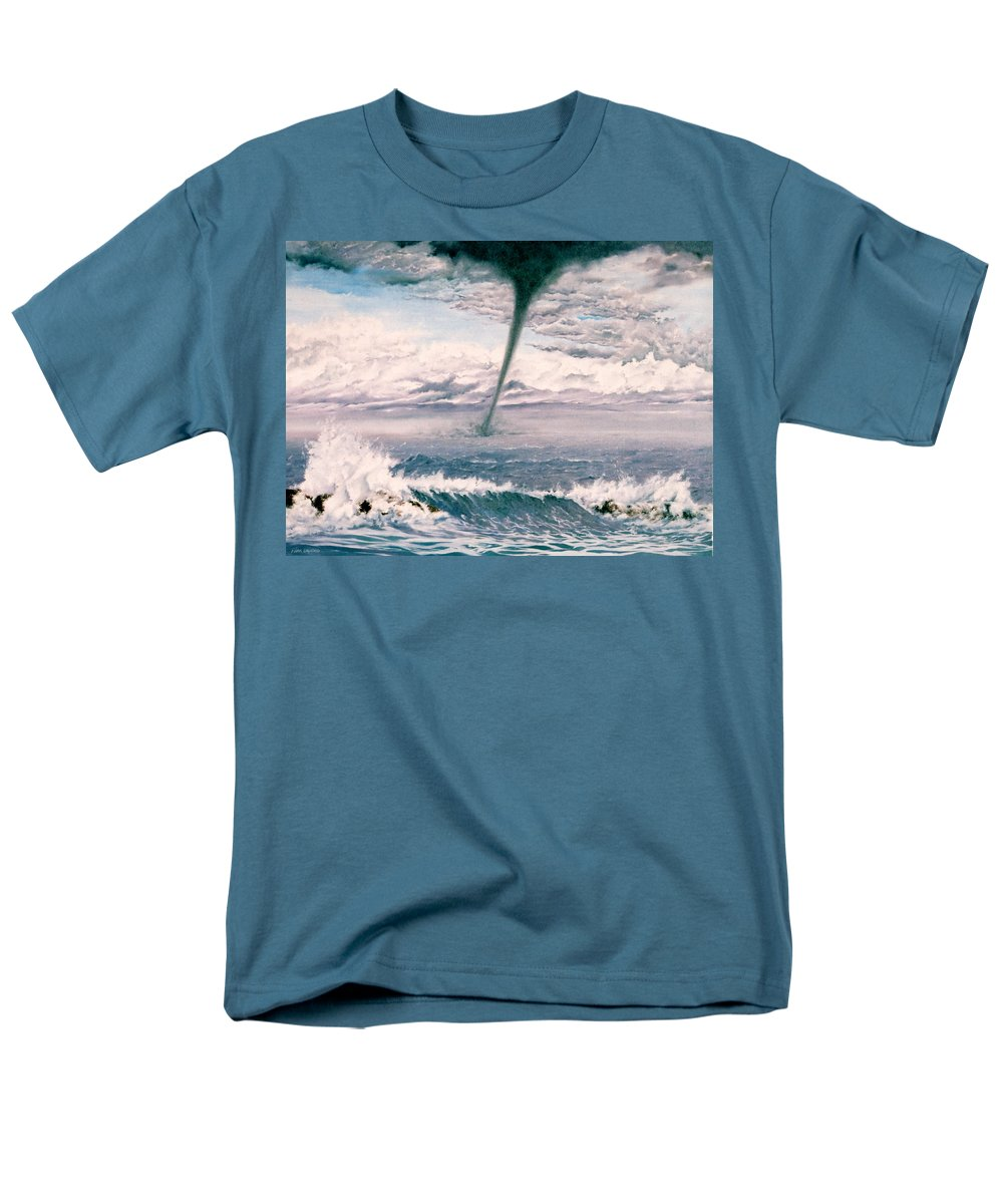 Seascape Men's T-Shirt (Regular Fit) featuring the painting Twisted Nature by Mark Cawood