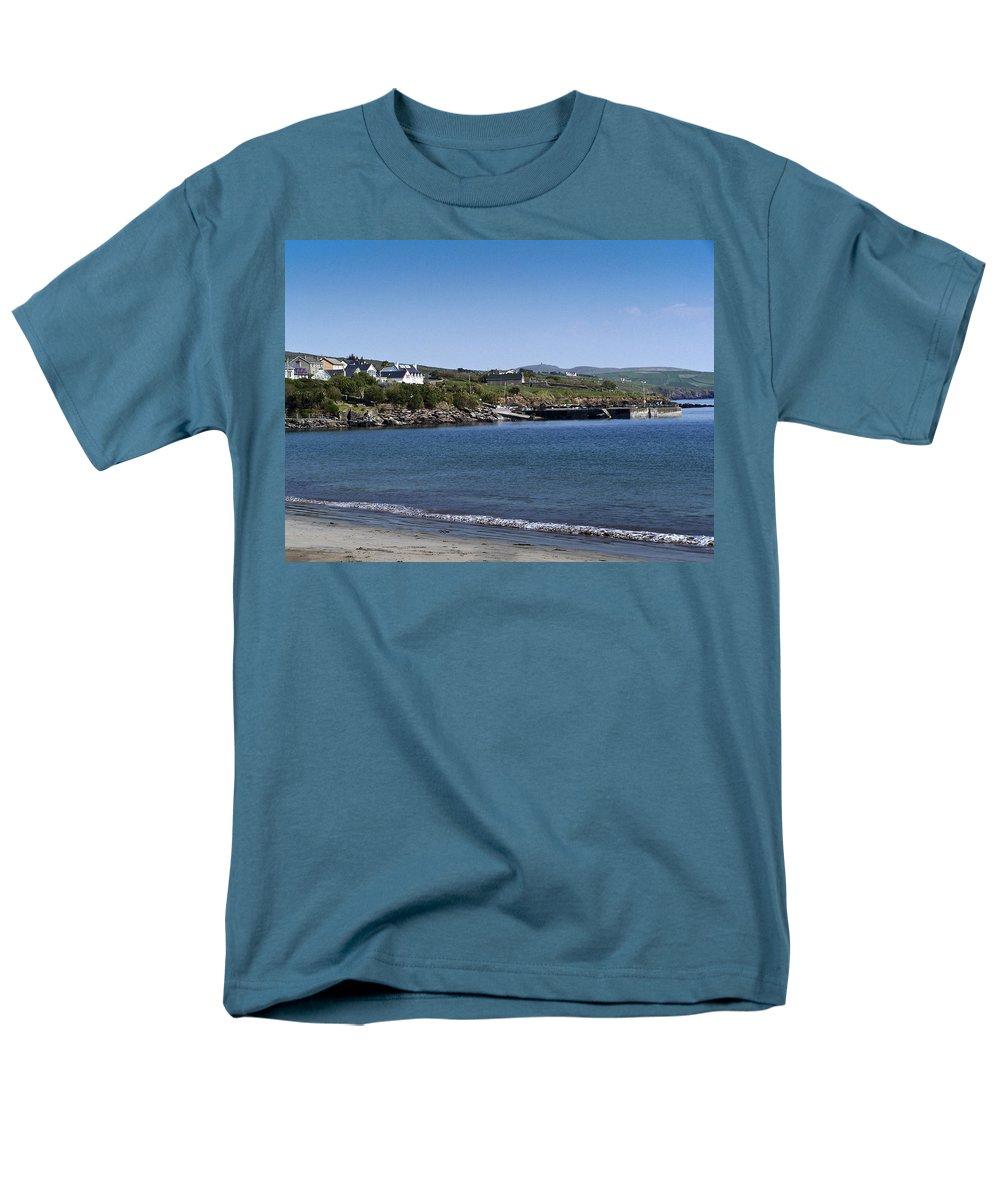 Irish Men's T-Shirt (Regular Fit) featuring the photograph Ventry Beach and Harbor Ireland by Teresa Mucha