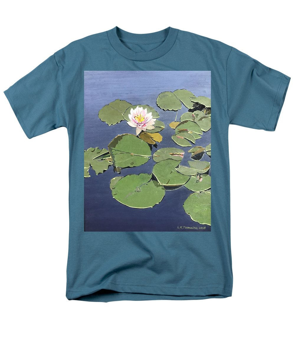 Recycled Men's T-Shirt (Regular Fit) featuring the painting Waiting Lotus by Leah Tomaino
