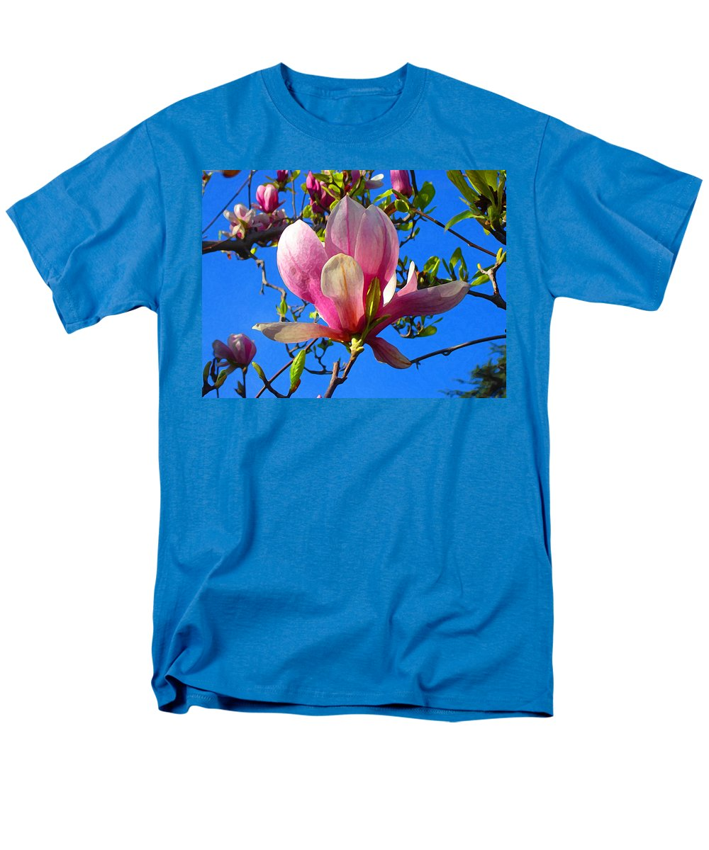 Magnolia Men's T-Shirt (Regular Fit) featuring the painting Magnolia Flower by Amy Vangsgard