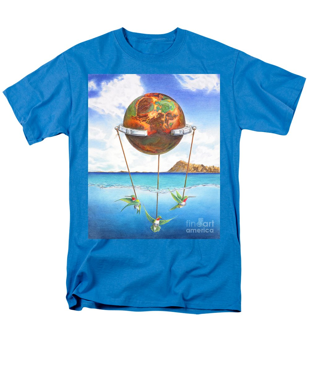 Surreal Men's T-Shirt (Regular Fit) featuring the painting Tethered Sphere by Melissa A Benson