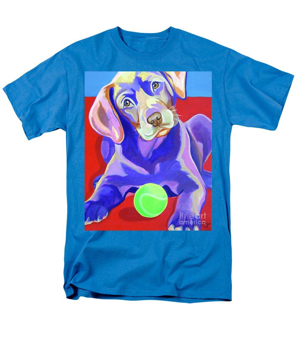 First Tennis Ball Men's T-Shirt (Regular Fit) featuring the painting First Tennis Ball by Jody Wright