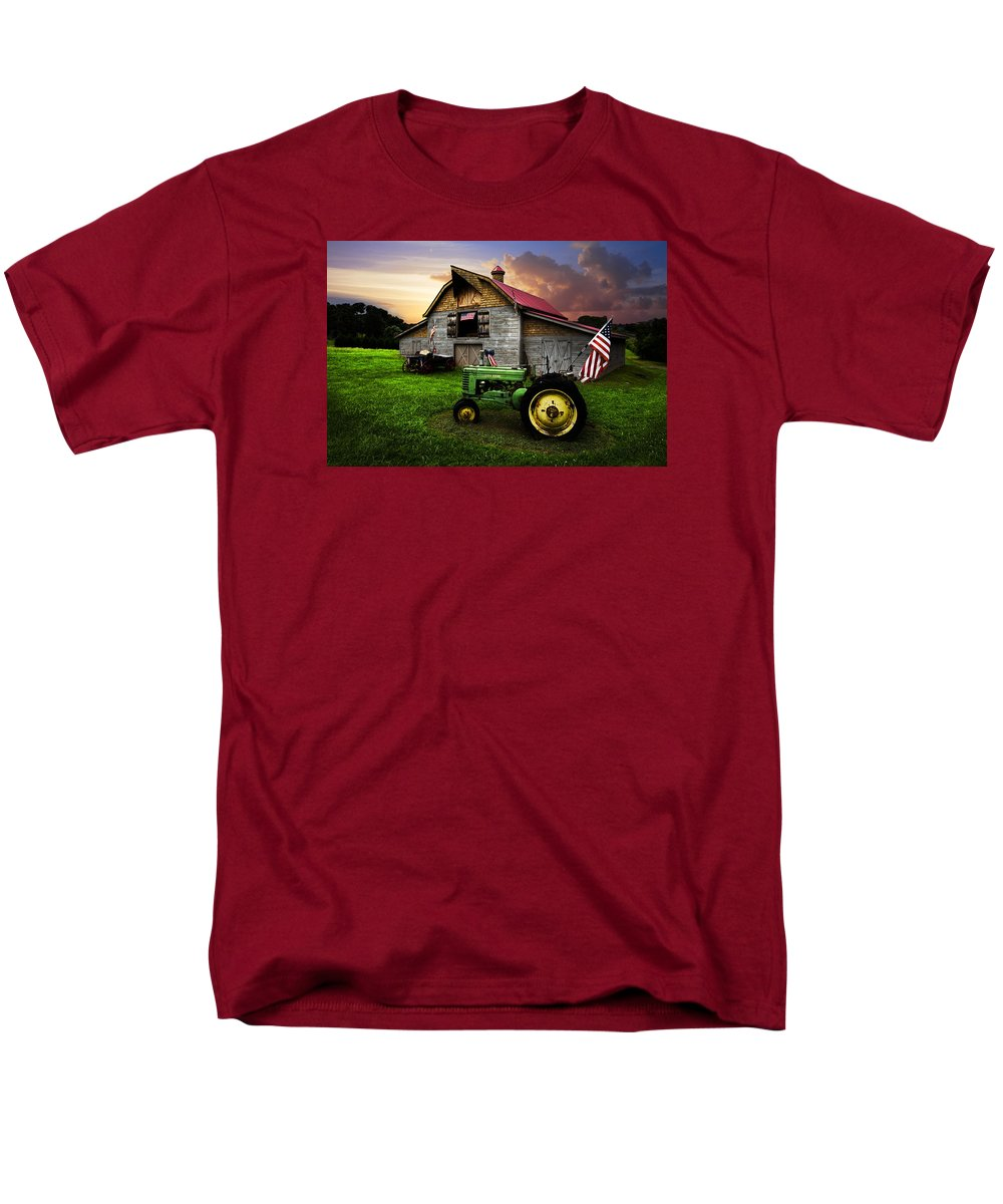 American Men's T-Shirt (Regular Fit) featuring the photograph God Bless America by Debra and Dave Vanderlaan