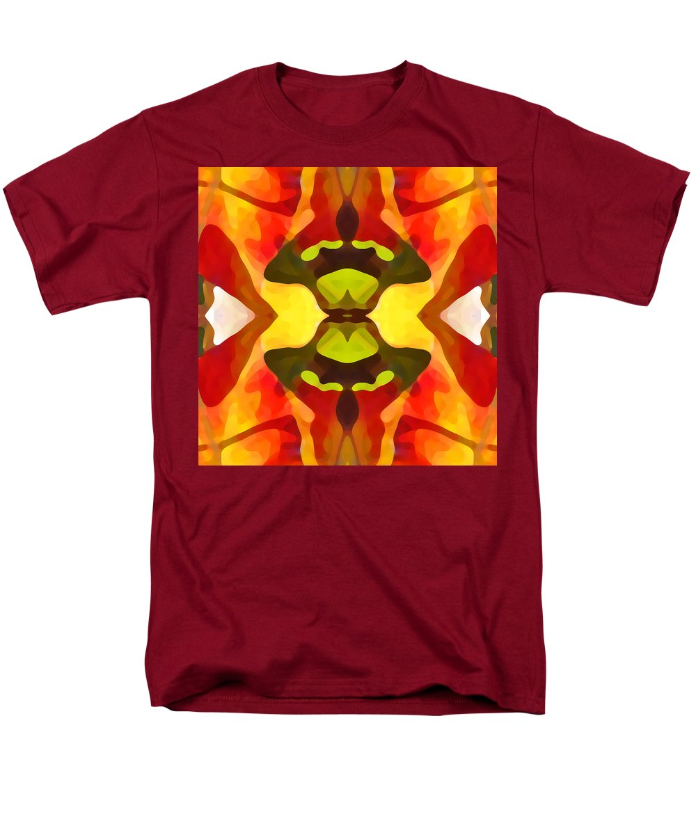 Abstract Men's T-Shirt (Regular Fit) featuring the painting Tropical Leaf Pattern 1 by Amy Vangsgard