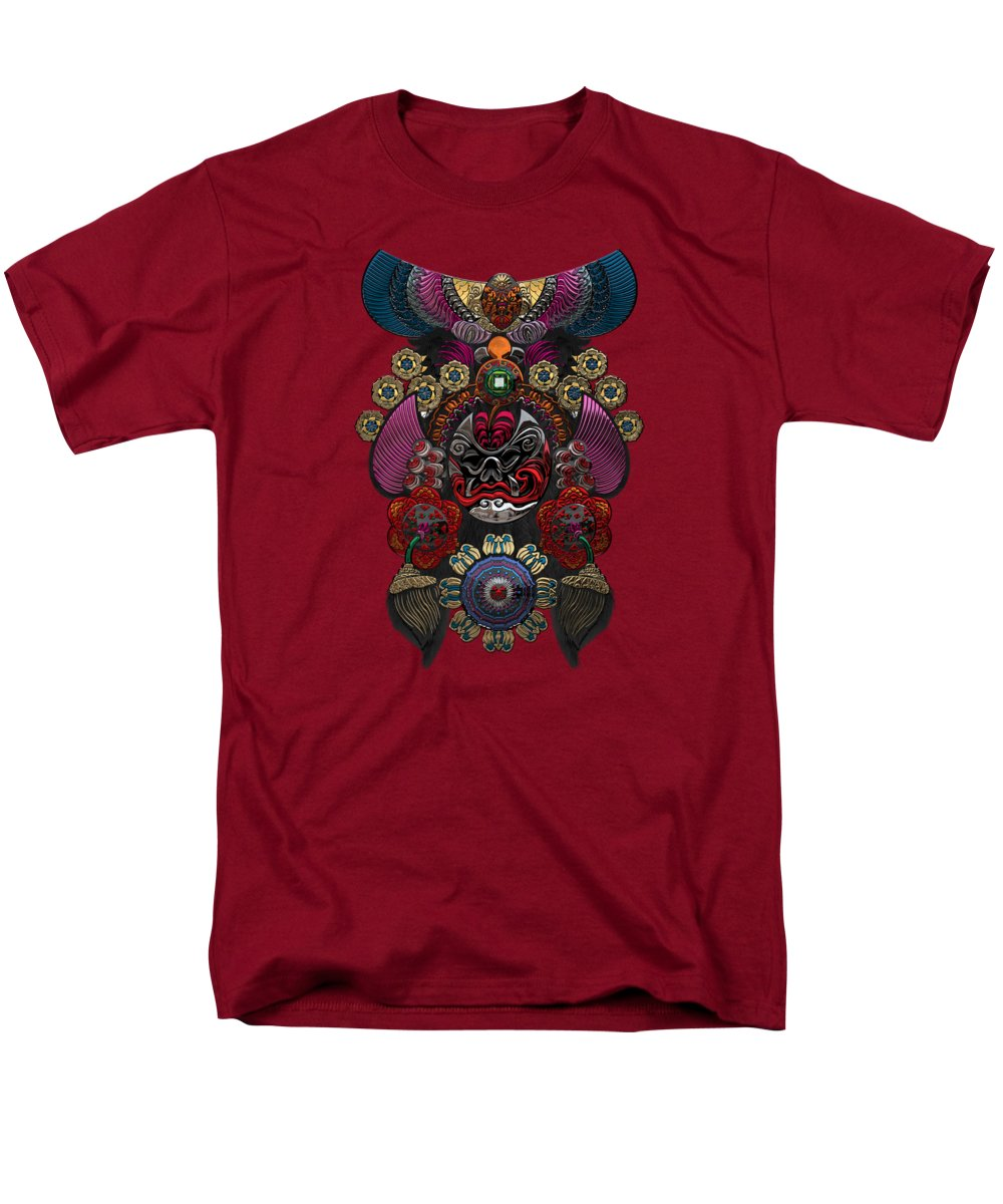 �treasures Of China� By Serge Averbukh Men's T-Shirt (Regular Fit) featuring the photograph Chinese Masks - Large Masks Series - The Demon by Serge Averbukh