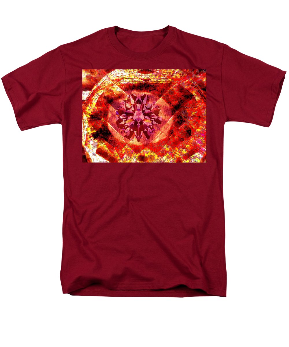 Abstract Men's T-Shirt (Regular Fit) featuring the photograph Behold the Jeweled Eye of Blood by Seth Weaver