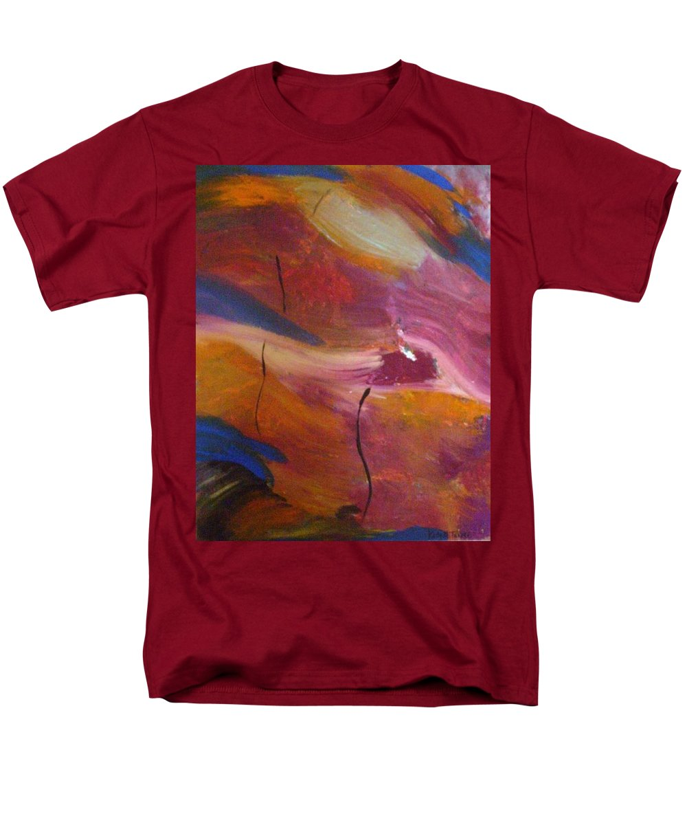 Abstract Art Men's T-Shirt (Regular Fit) featuring the painting Broken Heart by Kelly Turner
