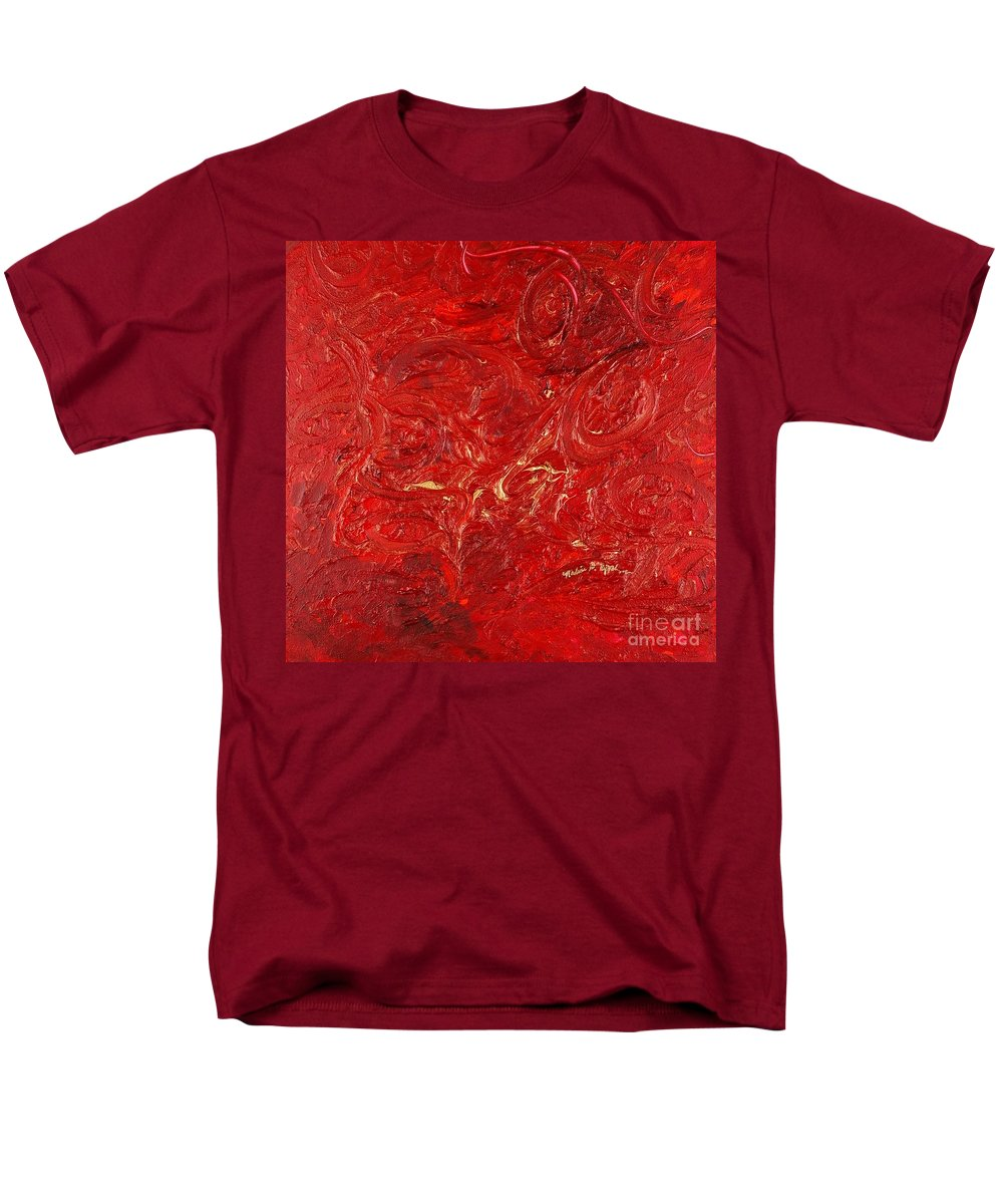 Red Men's T-Shirt (Regular Fit) featuring the painting Celebration by Nadine Rippelmeyer