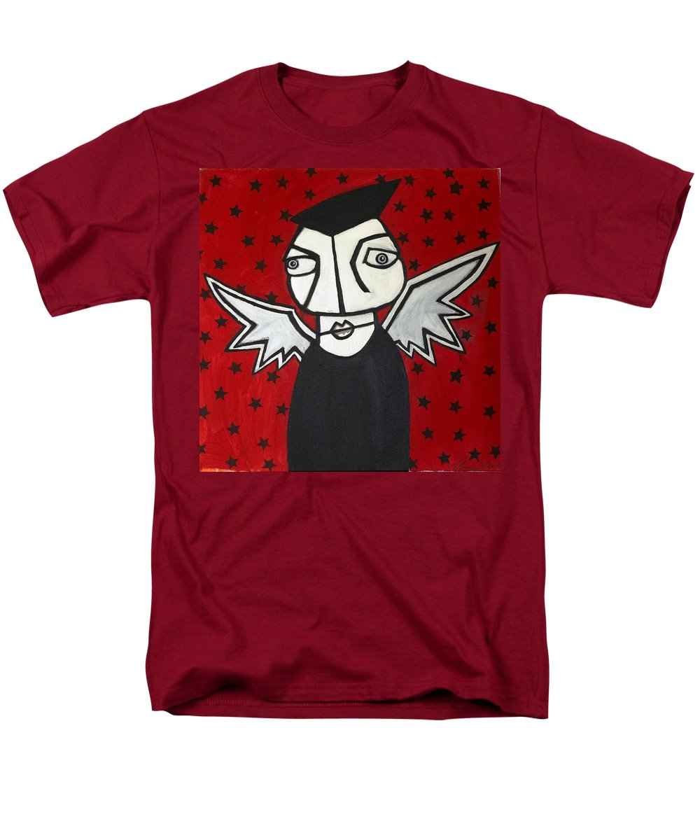 Clay Men's T-Shirt (Regular Fit) featuring the painting Mr.creepy by Thomas Valentine