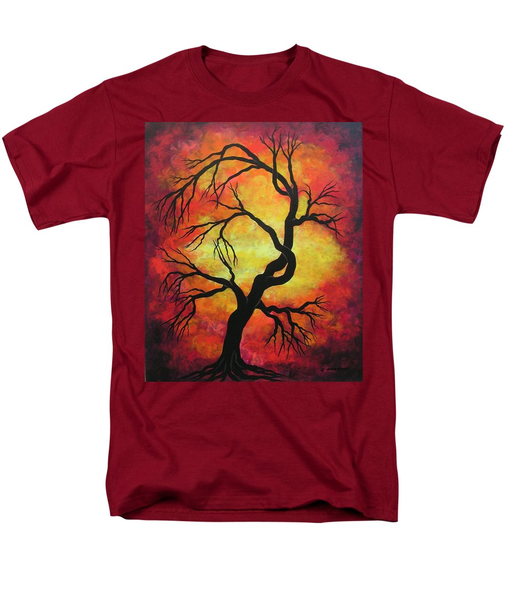 Acrylic Men's T-Shirt (Regular Fit) featuring the painting Mystic Firestorm by Jordanka Yaretz