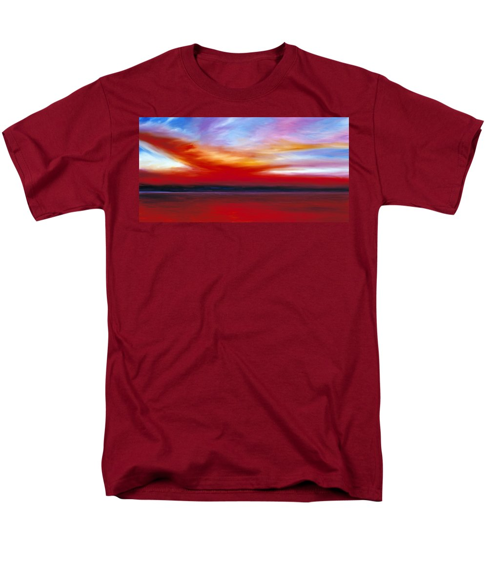 Clouds Men's T-Shirt (Regular Fit) featuring the painting October Sky by James Christopher Hill