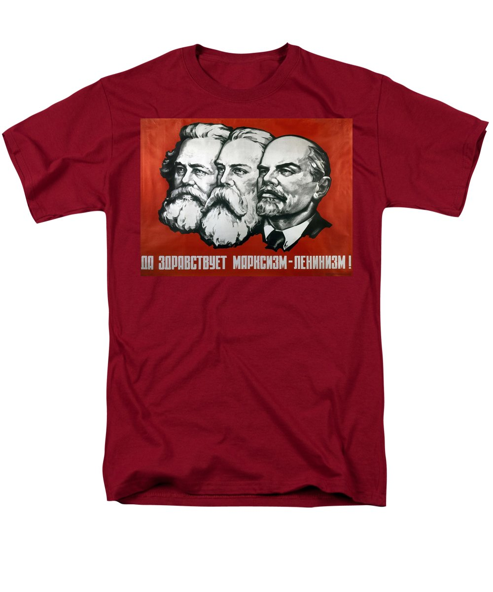 Poster Depicting Karl Marx Friedrich Engels And Lenin T-Shirt for ...