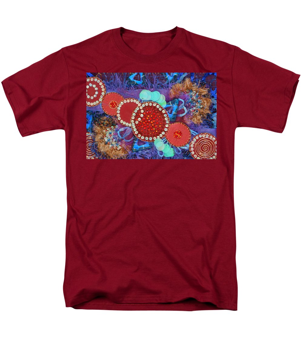 Men's T-Shirt (Regular Fit) featuring the mixed media Ruby Slippers 2 by Judy Henninger