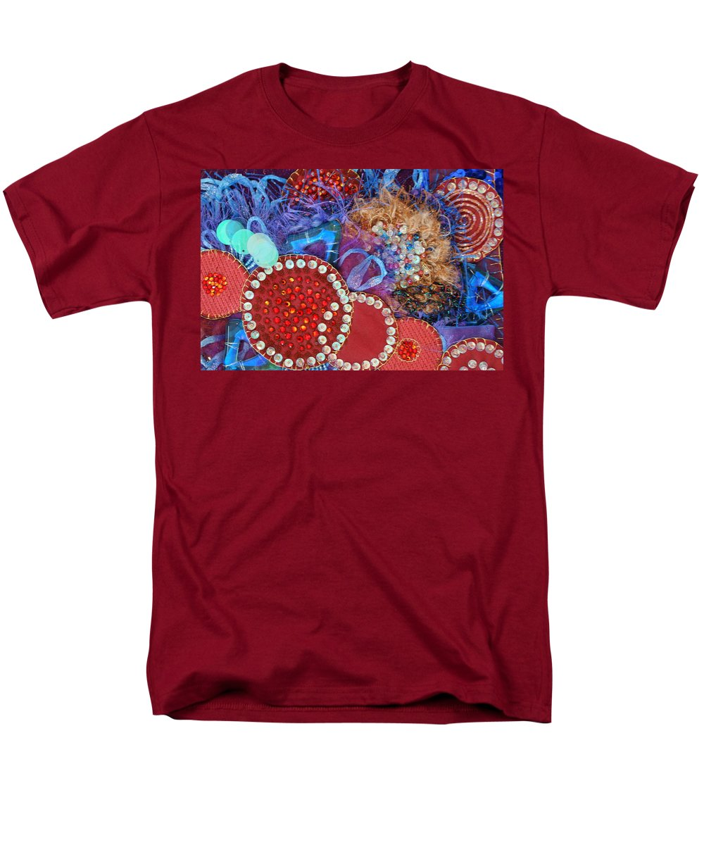 Men's T-Shirt (Regular Fit) featuring the mixed media Ruby Slippers 3 by Judy Henninger