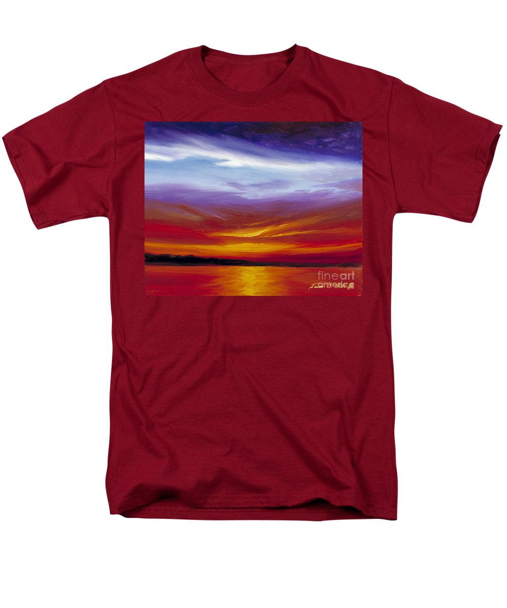 Skyscape Men's T-Shirt (Regular Fit) featuring the painting Sarasota Bay I by James Christopher Hill