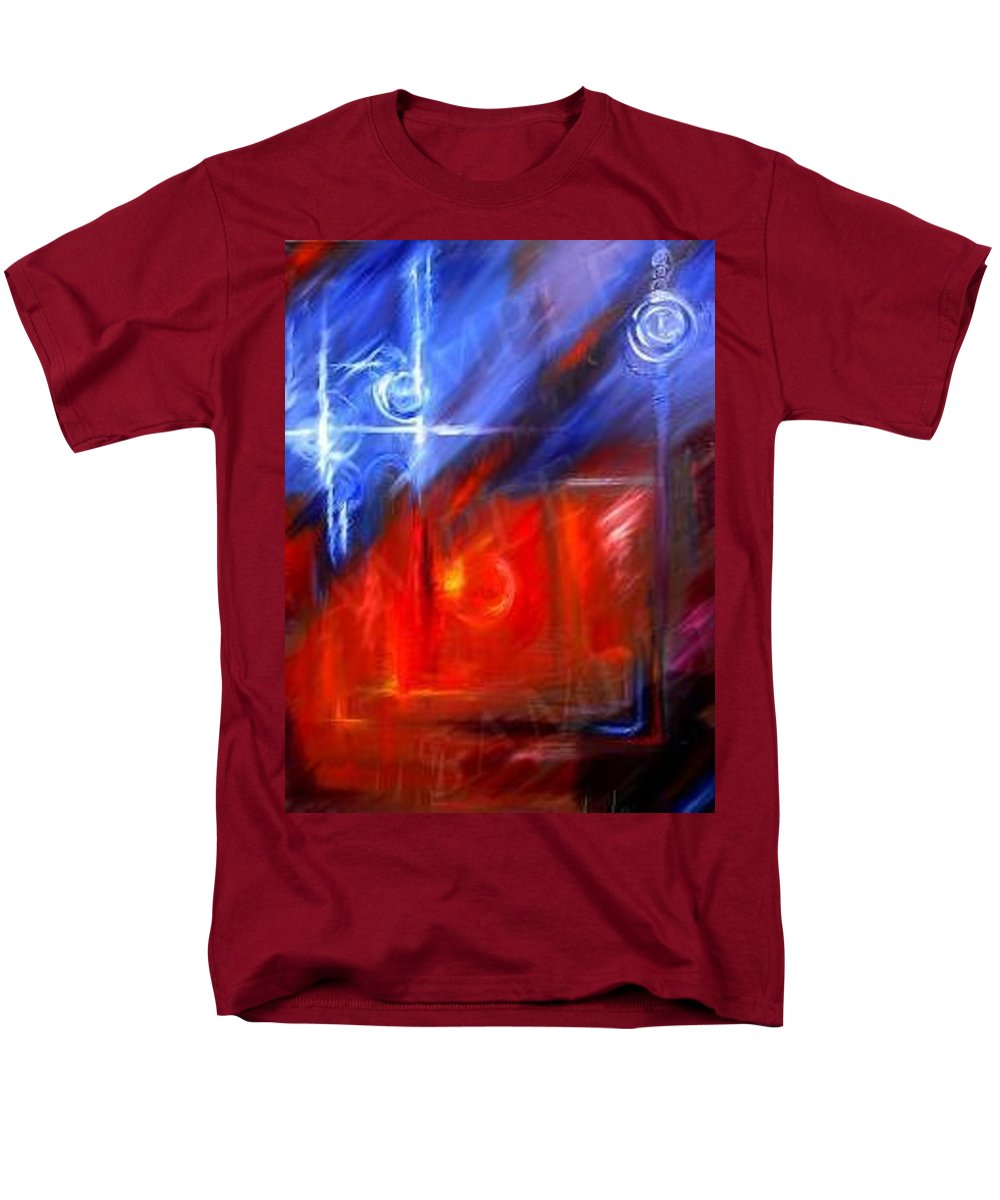 Abstracts Men's T-Shirt (Regular Fit) featuring the painting Windows by James Christopher Hill