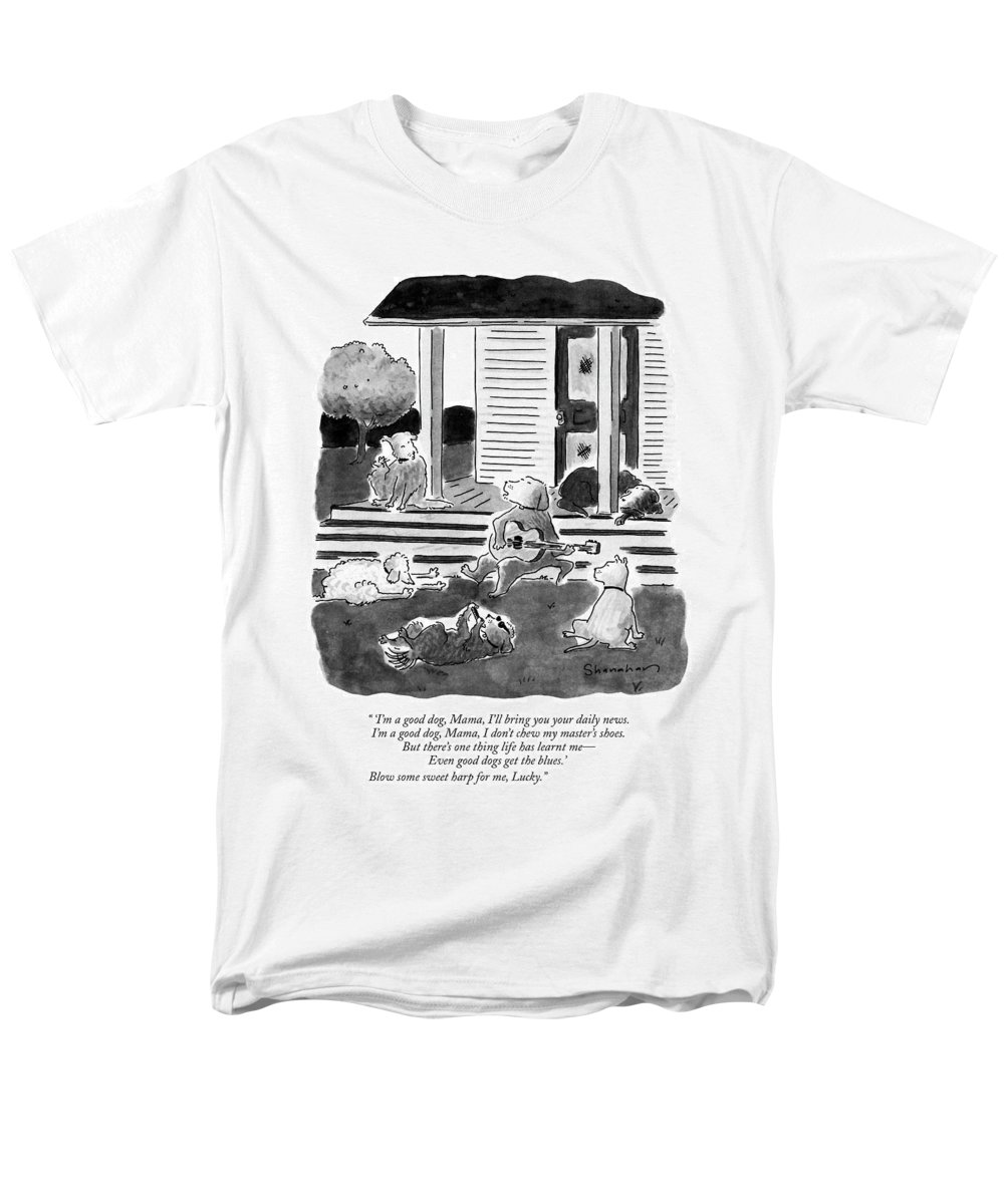 Dogs Men's T-Shirt (Regular Fit) featuring the drawing 'i'm A Good Dog by Danny Shanahan