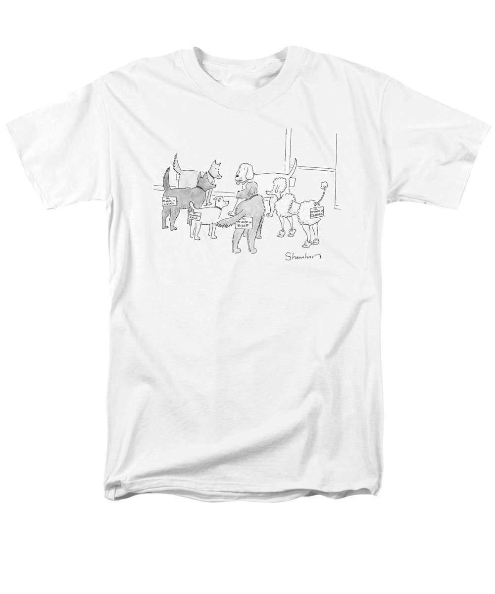 066b7e988 Dog Men's T-Shirt (Regular Fit) featuring the drawing New Yorker September  17th