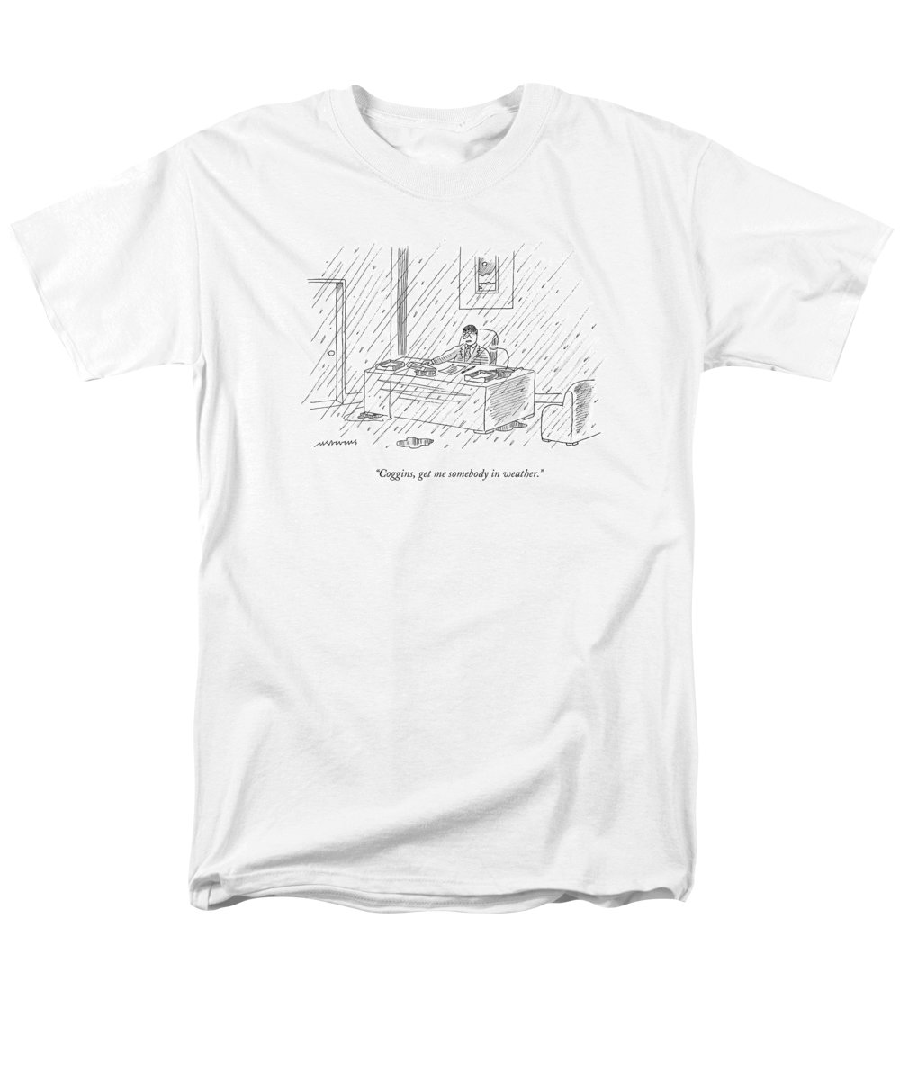 Business Men's T-Shirt (Regular Fit) featuring the drawing Coggins, Get Me Somebody In Weather by Mick Stevens