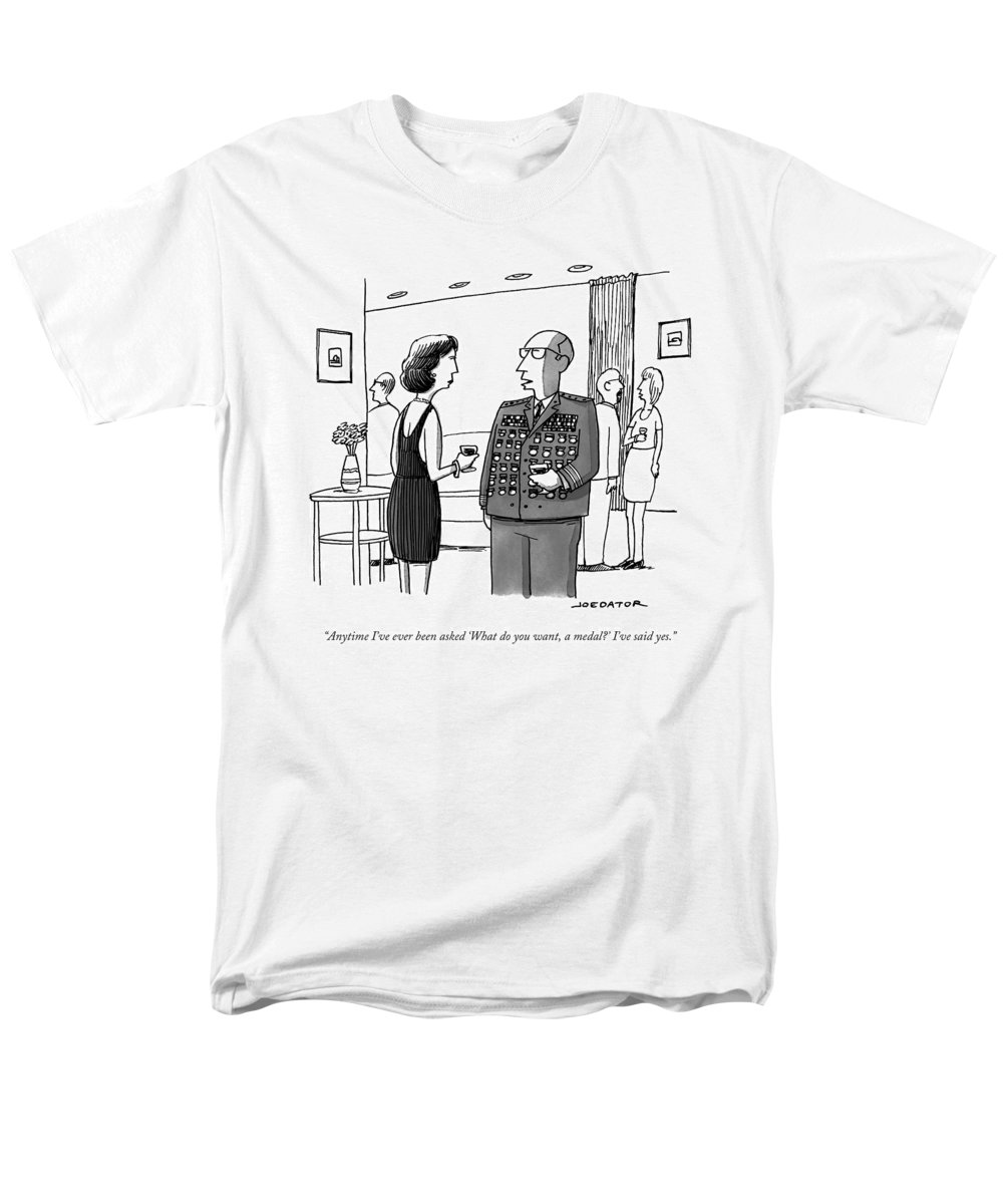 General Men's T-Shirt (Regular Fit) featuring the drawing Anytime I've Ever Been Asked 'what Do You Want by Joe Dator