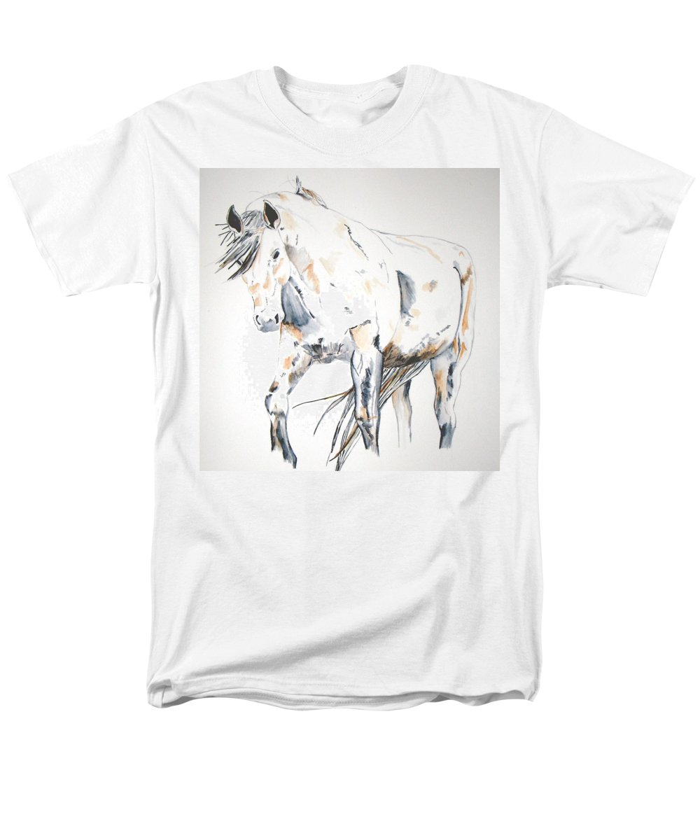 Horse Men's T-Shirt (Regular Fit) featuring the painting Beauty by Crystal Hubbard
