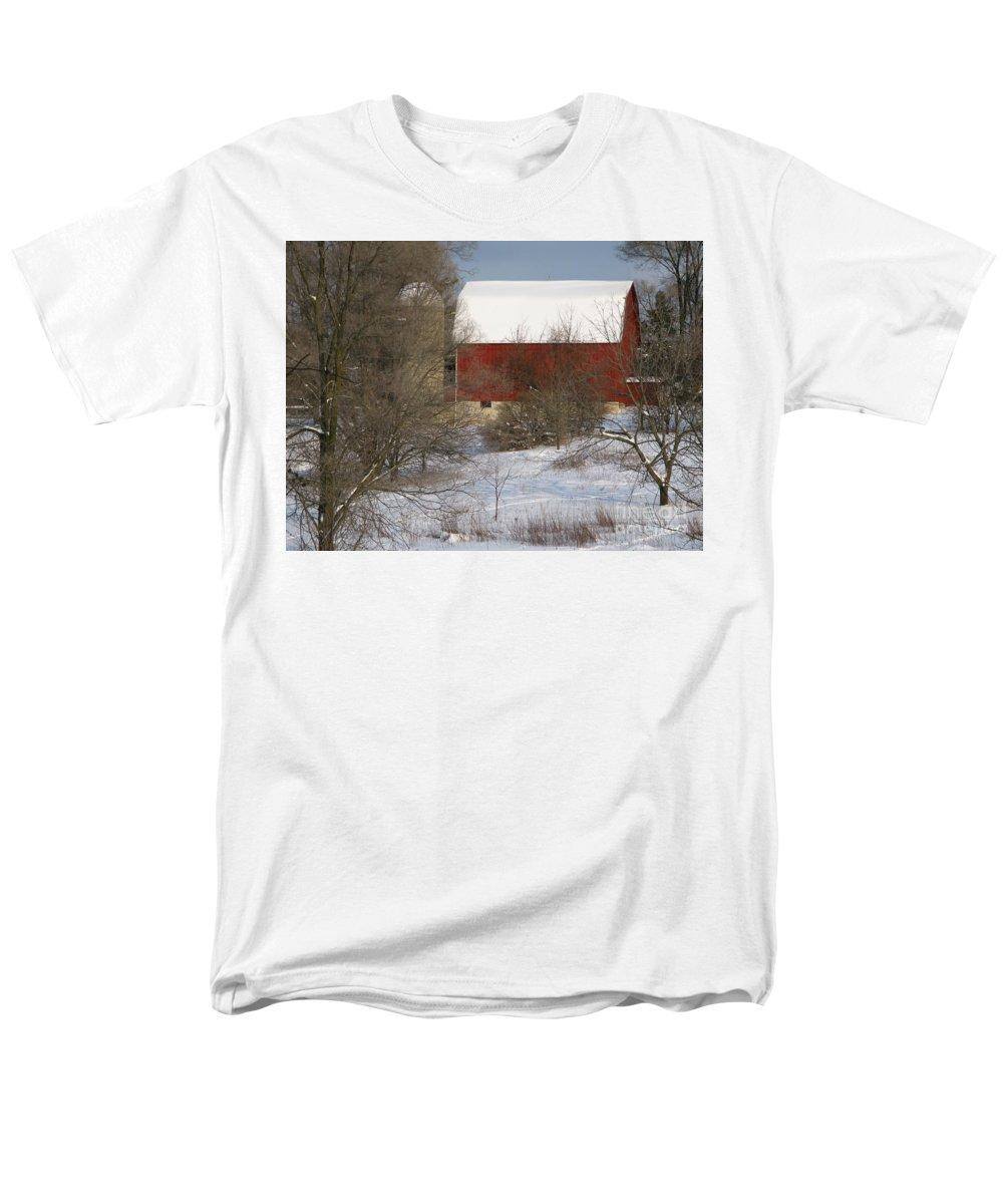Winter Men's T-Shirt (Regular Fit) featuring the photograph Country Winter by Ann Horn