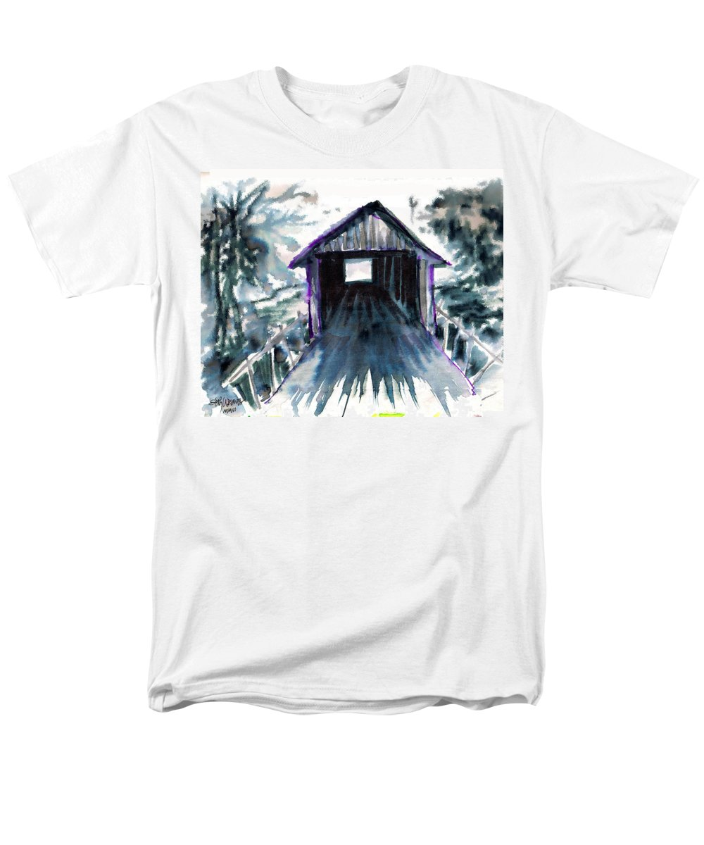 Old South Men's T-Shirt (Regular Fit) featuring the digital art Covered Bridge by Seth Weaver