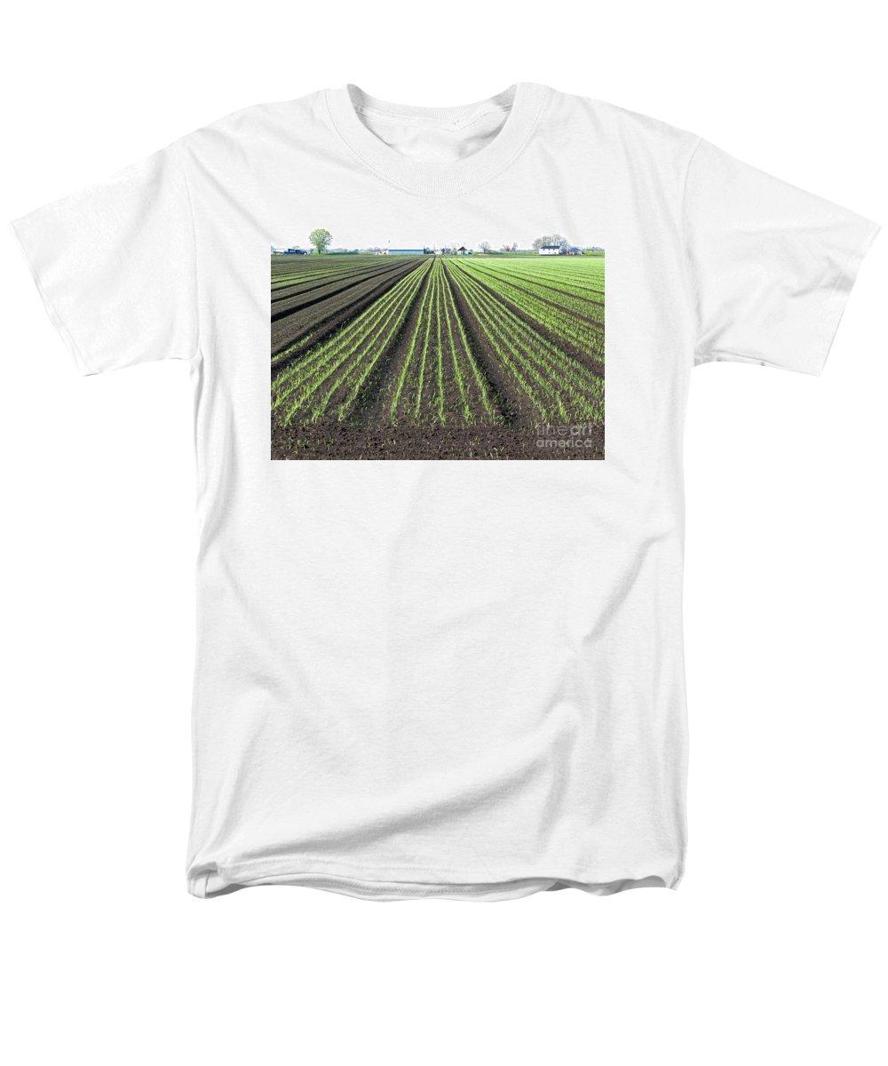 Farm Men's T-Shirt (Regular Fit) featuring the photograph Good Earth by Ann Horn