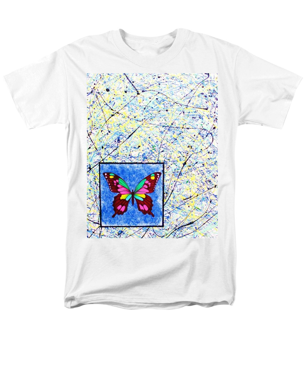 Abstract Men's T-Shirt (Regular Fit) featuring the painting Imperfect I by Micah Guenther