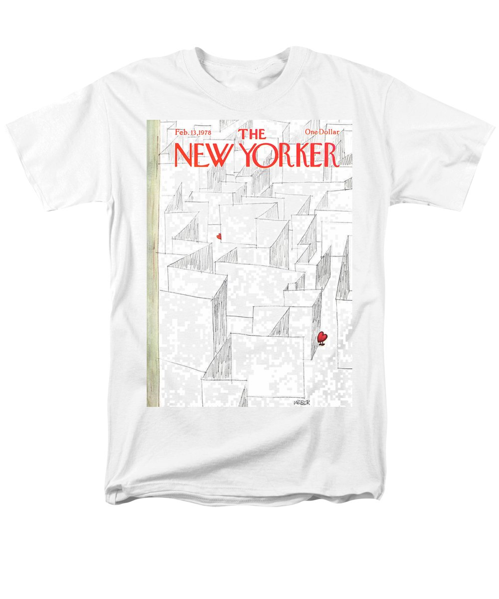 Holidays Men's T-Shirt (Regular Fit) featuring the painting New Yorker February 13th, 1978 by Robert Weber