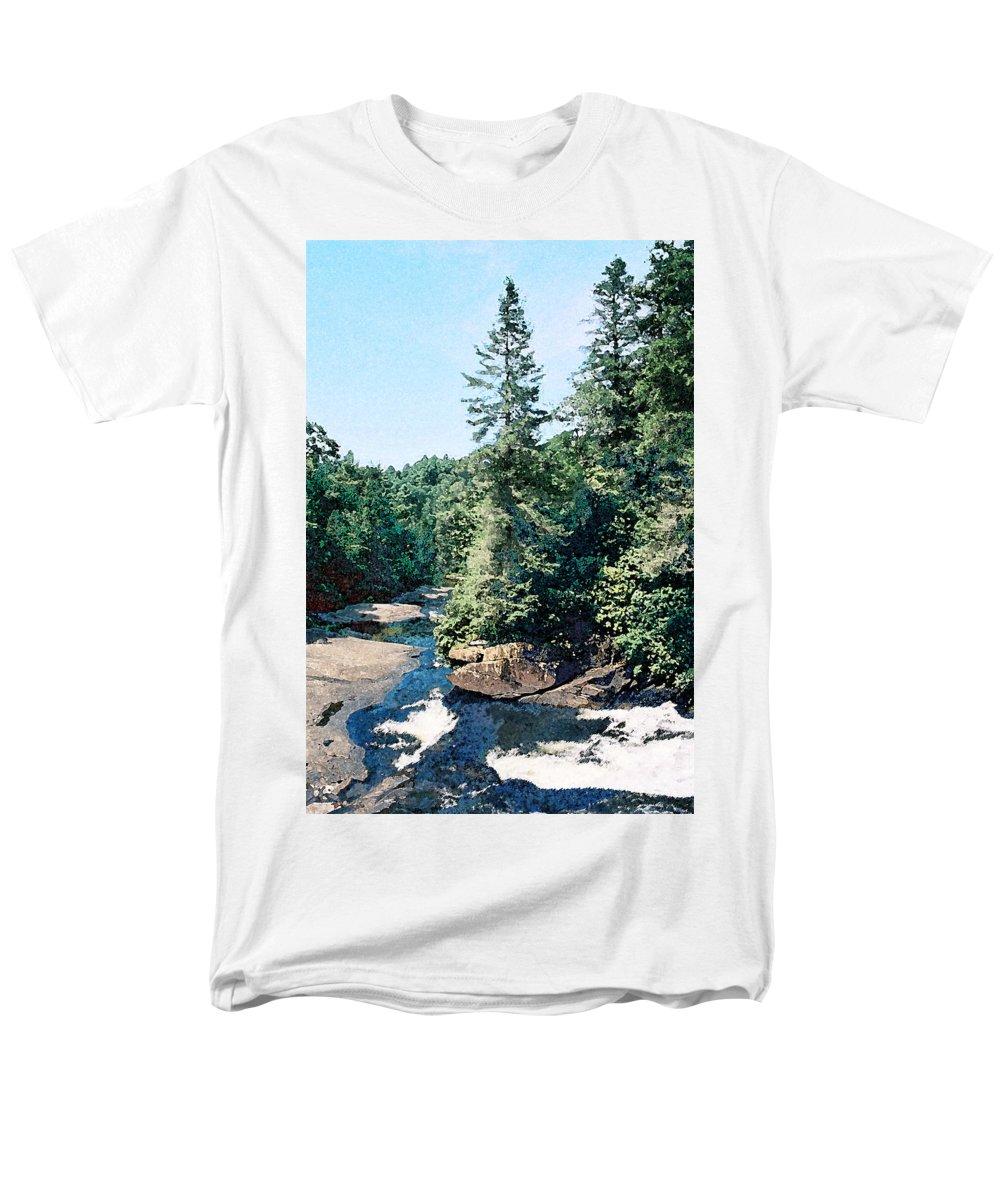 Landscape Men's T-Shirt (Regular Fit) featuring the digital art North Carolina Landscape by Steve Karol