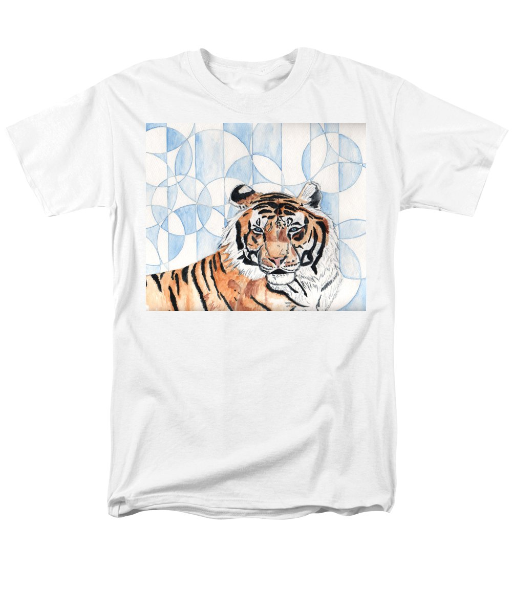 Tiger Men's T-Shirt (Regular Fit) featuring the painting Royal Mysticism by Crystal Hubbard