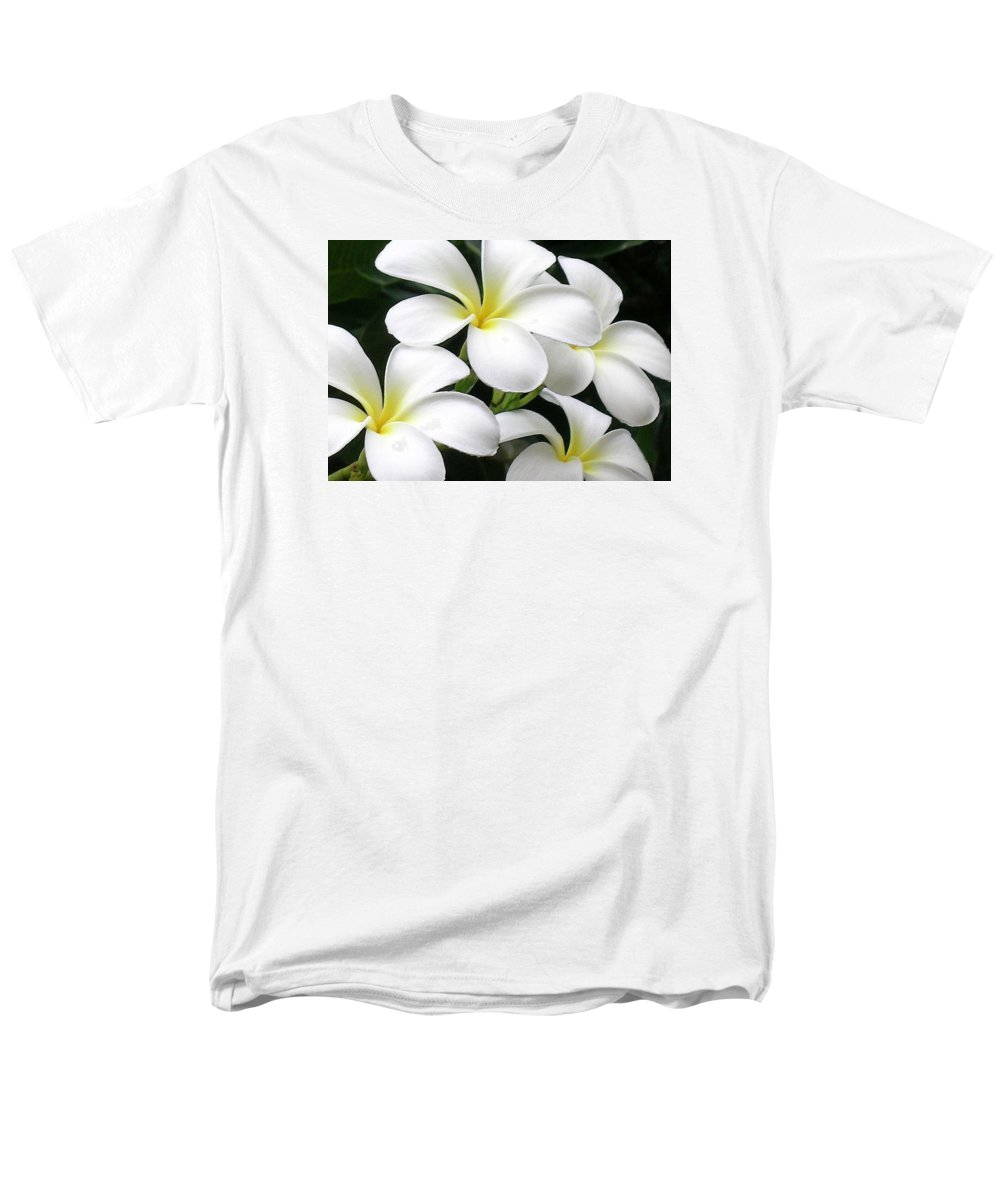 Hawaii Iphone Cases Men's T-Shirt (Regular Fit) featuring the photograph White Plumeria by James Temple