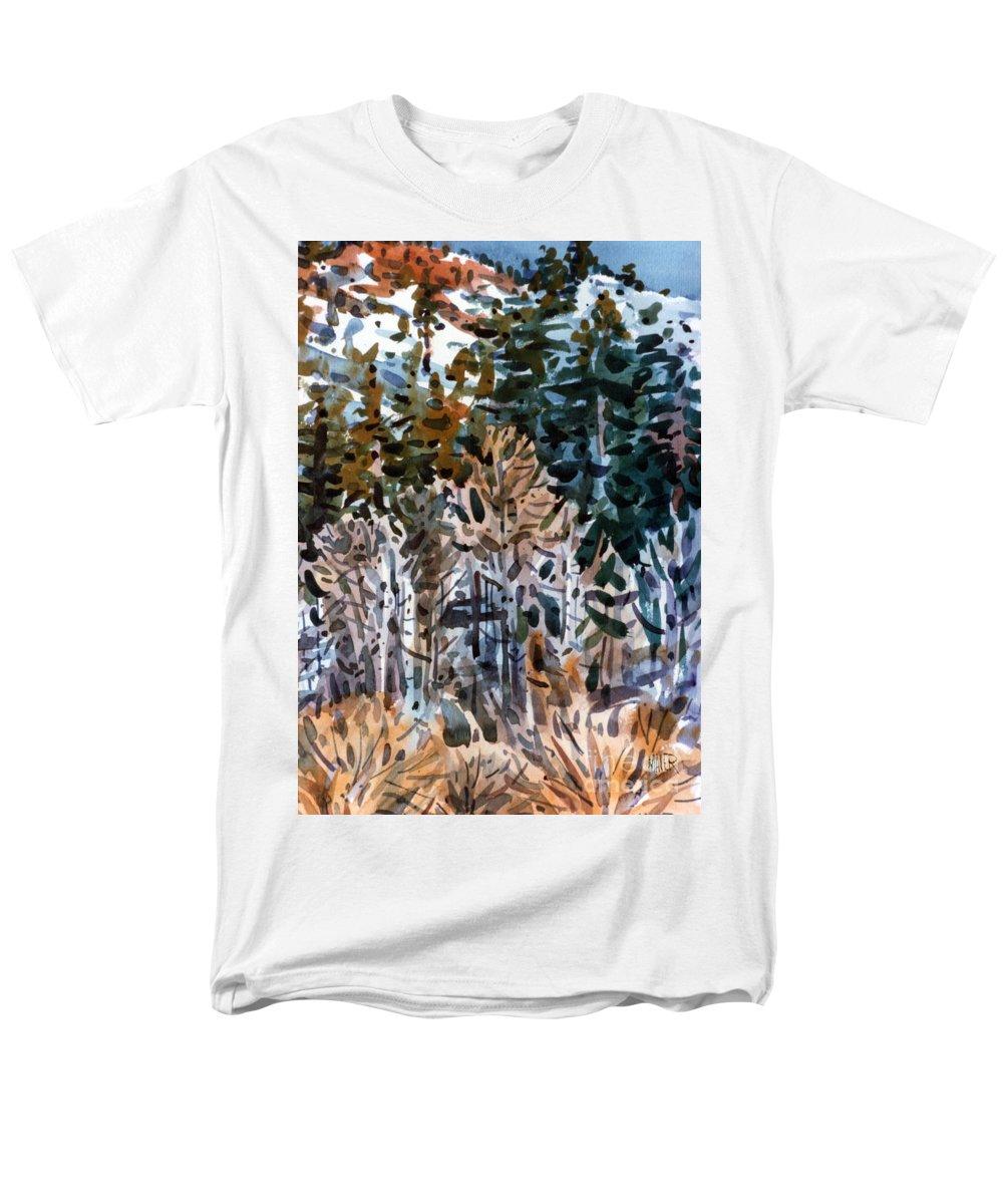 Walker River Men's T-Shirt (Regular Fit) featuring the painting Along the Walker River by Donald Maier