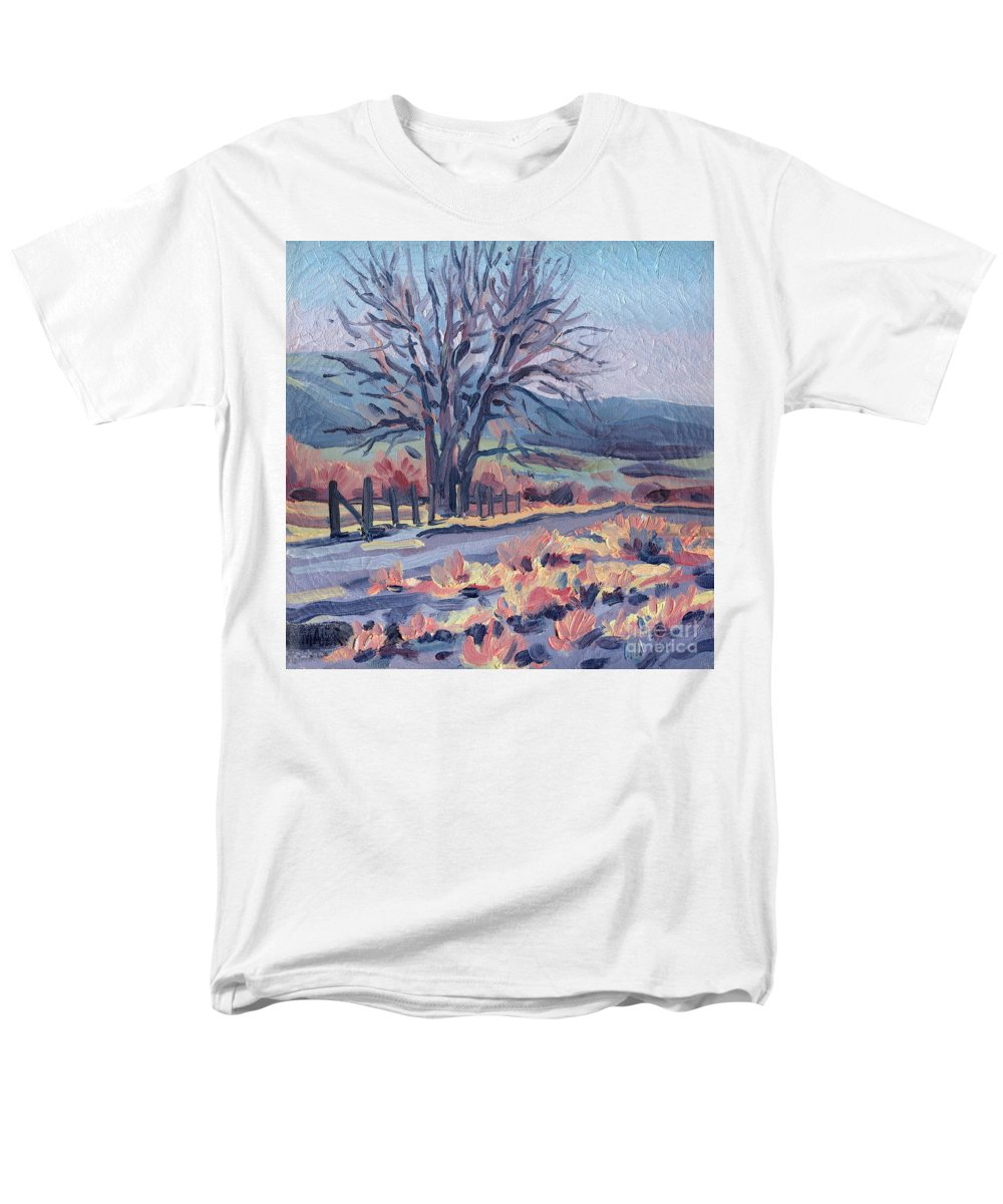 Road Men's T-Shirt (Regular Fit) featuring the painting Country Road by Donald Maier