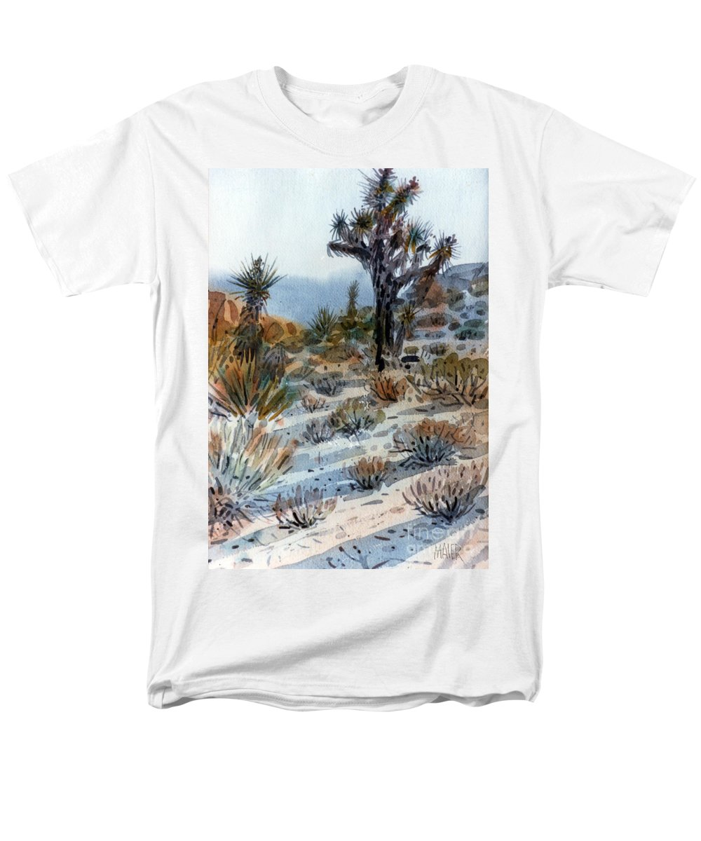 Joshua Tree Men's T-Shirt (Regular Fit) featuring the painting Joshua Tree by Donald Maier