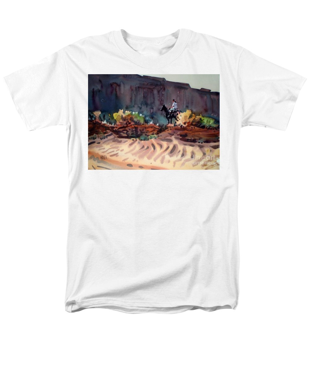 Equestrian Men's T-Shirt (Regular Fit) featuring the painting Navajo Rider by Donald Maier