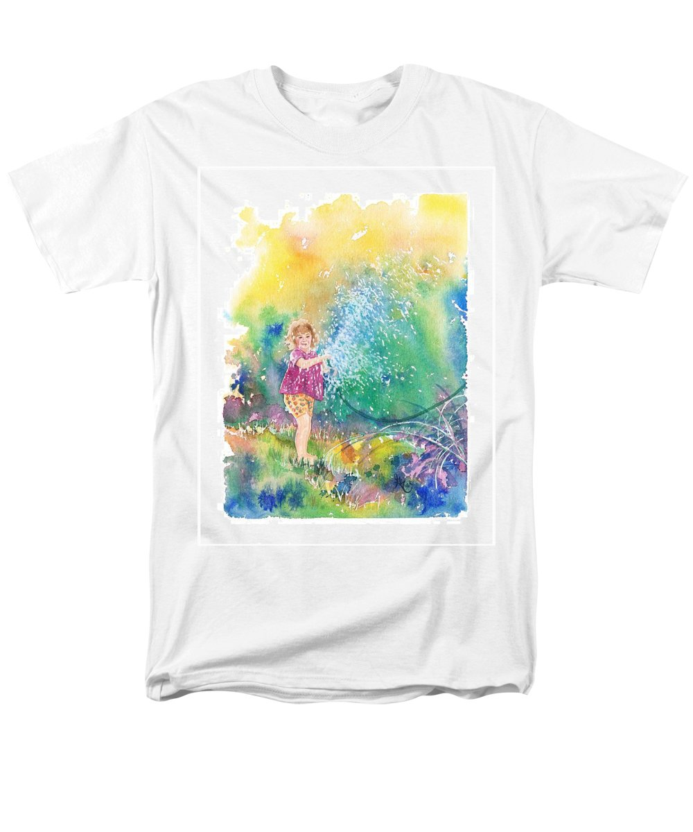 Children Men's T-Shirt (Regular Fit) featuring the painting Summer Fun by Gale Cochran-Smith