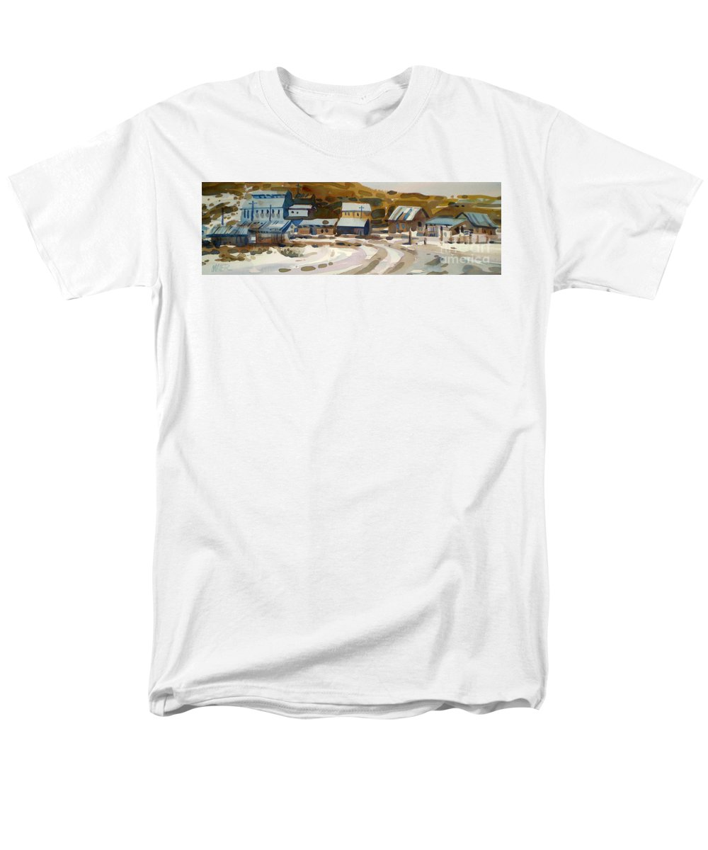 Ghost Town Men's T-Shirt (Regular Fit) featuring the painting Bodie California 1979 by Donald Maier