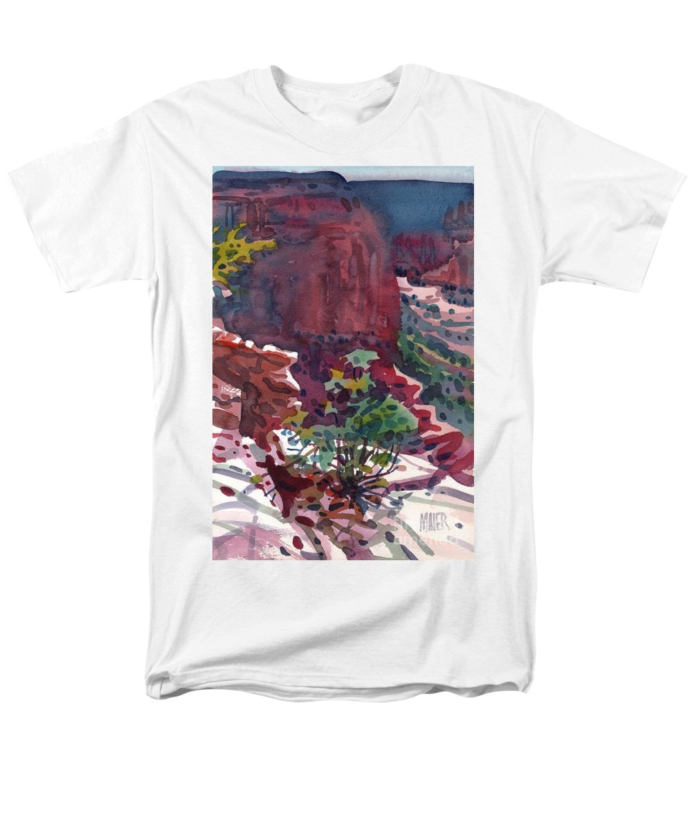 Canyon De Chelly Men's T-Shirt (Regular Fit) featuring the painting Canyon View by Donald Maier