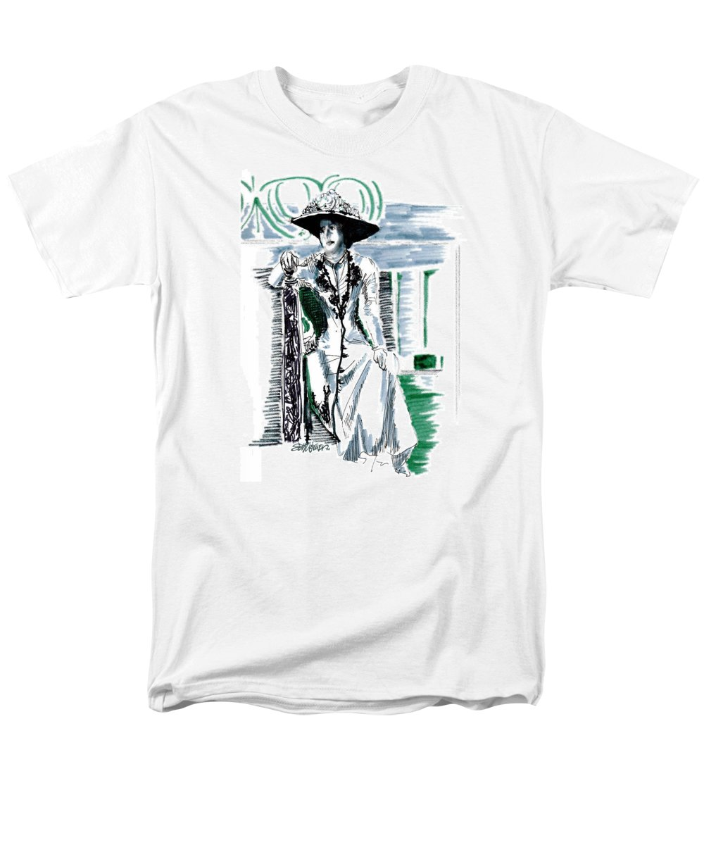 Lady Grantham Men's T-Shirt (Regular Fit) featuring the drawing Lady Grantham by Seth Weaver
