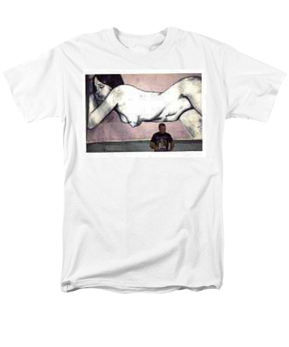 Nude Men's T-Shirt (Regular Fit) featuring the painting Missy by Thomas Valentine