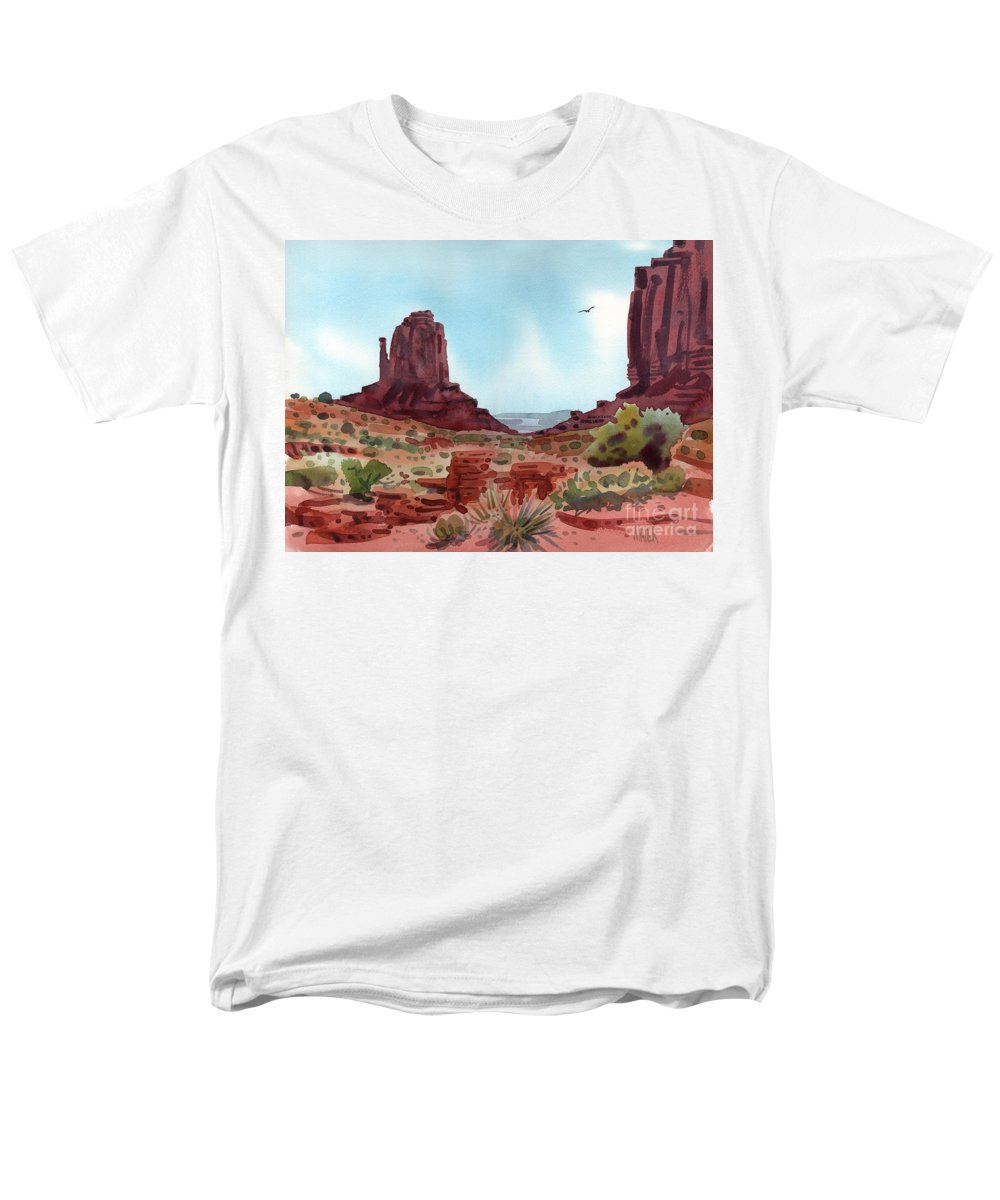 Right Mitten Men's T-Shirt (Regular Fit) featuring the painting Right Mitten by Donald Maier